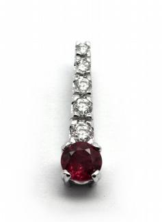 Diamantový zlatý přívěsek s rubíny a diamanty 585/0,85 gr J-21057-12 POŠTOVNÉ ZDARMA! (J-21057-12)
