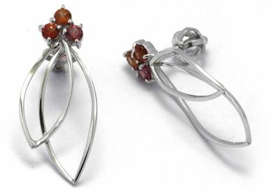 Luxusní diamantové náušnice s barevnými safíry 585/2,07 gr J-22567-13 POŠTOVNÉ ZDARMA!
