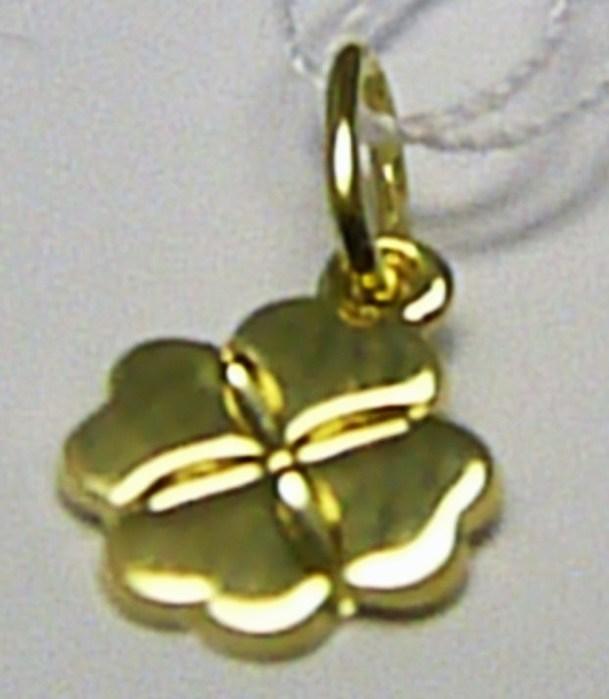 Zlatý přívěsek - zlatý čtyřlístek pro štěstí 585/0,66gr Z059 (241040599)