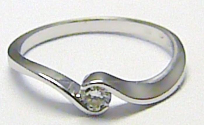 Zlatý zásnubní prsten s přírodním diamantem 585/1,72 gr vel. 54 SKLADEM!! D001 POŠTOVNÉ ZDARMA!