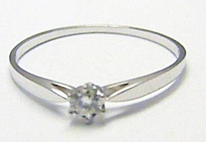 Zlatý zásnubní prsten s přírodním diamantem 585/1,00gr vel. 58 D002 POŠTOVNÉ ZDARMA!