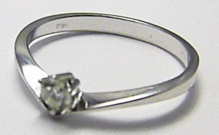 Zlatý zásnubní prsten s přírodním diamantem 585/1,75 gr vel. 56 SKLADEM!! D003 POŠTOVNÉ ZDARMA! (J-24571-14)