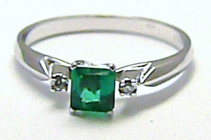 Diamantový mohutný zásnubní prsten se smaragdem 585/2,03g vel. 56 SKLADEM!! D005