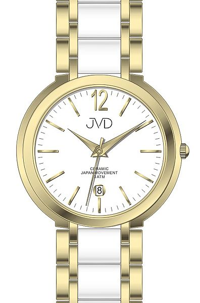 Luxusní keramické dámské náramkové hodinky JVD chronograph J1104.2 POŠTOVNÉ ZDARMA! (500)