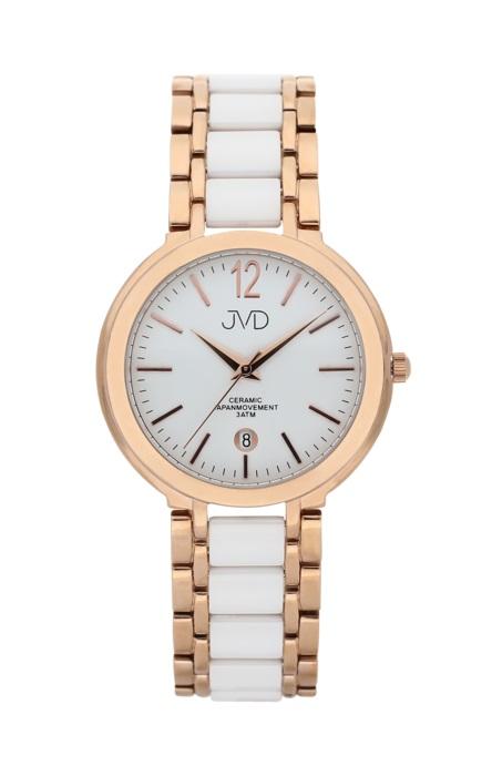 Luxusní keramické dámské náramkové hodinky JVD chronograph J1104.3 POŠTOVNÉ ZDARMA! (500)