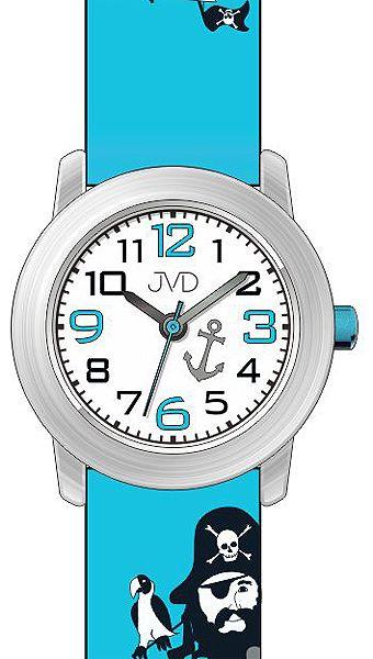 Dětské náramkové chlapecké hodinky JVD J7146.1 s jednookým pirátem