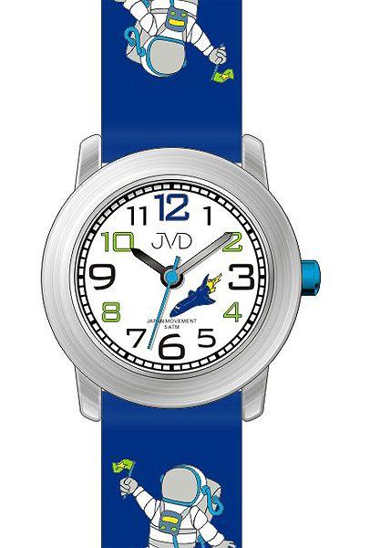 Dětské modré chlapecké hodinky JVD J7154.1 s kosmonautem