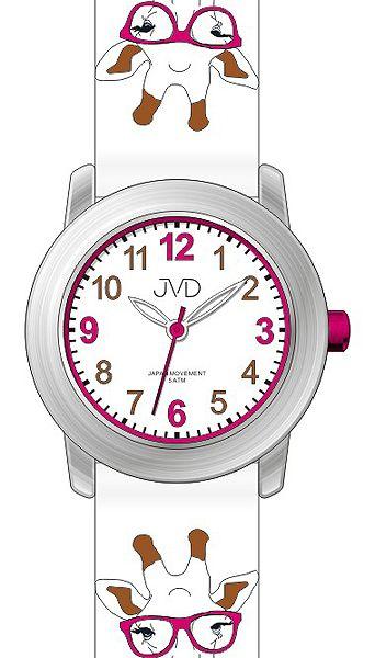 Dětské náramkové voděodolné hodinky JVD J7155.1 s kreslenou žirafou