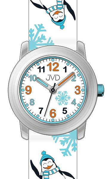 Dětské náramkové hodinky JVD J7152.1 se zimními motivy - tučnáky