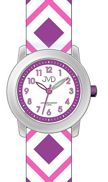 Dětské náramkové hodinky JVD J7144.1 s barevnými ornamenty