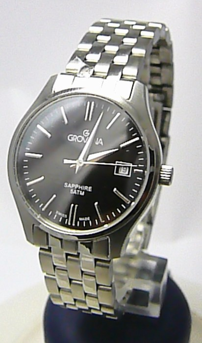 Dámské švýcarské stříbrné hodinky Grovana 5568.1137 se safírovým sklem POŠTOVNÉ ZDARMA!