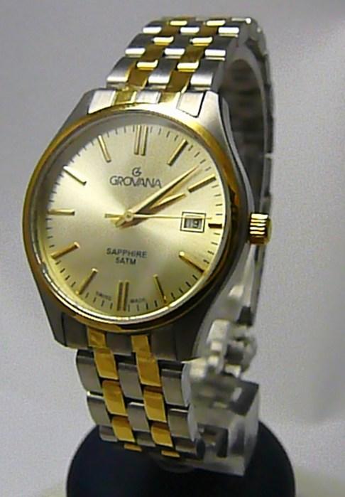 Dámské švýcarské luxusní hodinky Grovana 5568.1141 se safírovým nepoškr. sklem POŠTOVNÉ ZDARMA!
