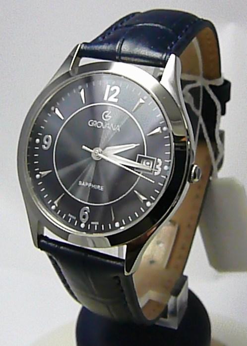 Pánské švýcarské luxusní hodinky Grovana 1206.1135 se safírovým nepoškr.  sklem POŠTOVNÉ ZDARMA! 8376d533fd