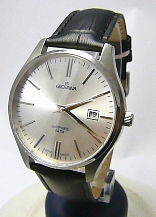 Pánské švýcarské luxusní hodinky Grovana 1568.1532 se safírovým nepoškr. sklem POŠTOVNÉ ZDARMA!
