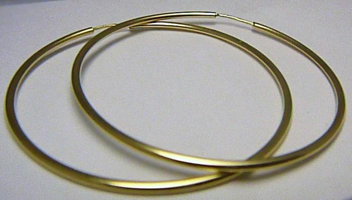 Dámské obrovské velké zlaté kruhy 50mm/5cm 585/1,56gr H435 POŠTOVNÉ ZDARMA!