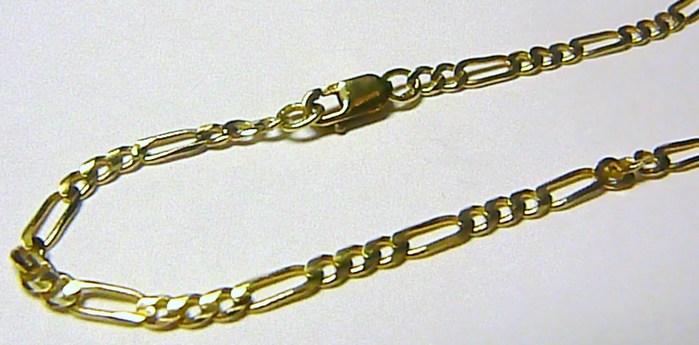 Zlatý pánský silný náramek FIGARO 585/0,70gr 22cm H442