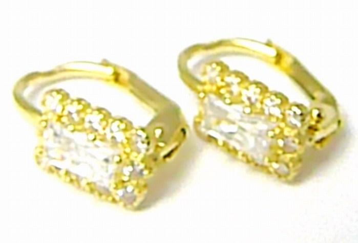 Dámské zlaté náušnice s bílými čirými zirkony 585/1,57 gr P400 POŠTOVNÉ ZDARMA! (2230450)