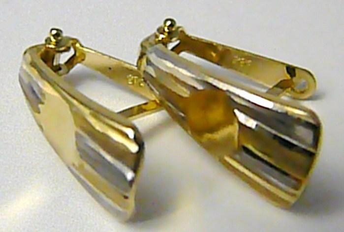 Velké mohutné zlaté náušnice z bílého a žlutého zlata 585/1,45gr P405 POŠTOVNÉ ZDARMA! (2130118)