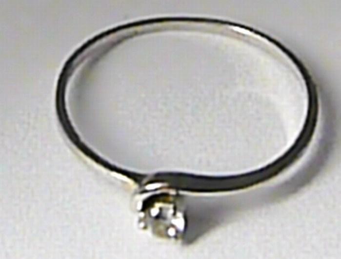 Zlatý zásnubní prsten z bílého zlata se zirkonem vel. 51 585/0,92 gr Z084 POŠTOVNÉ ZDARMA! (323041302)