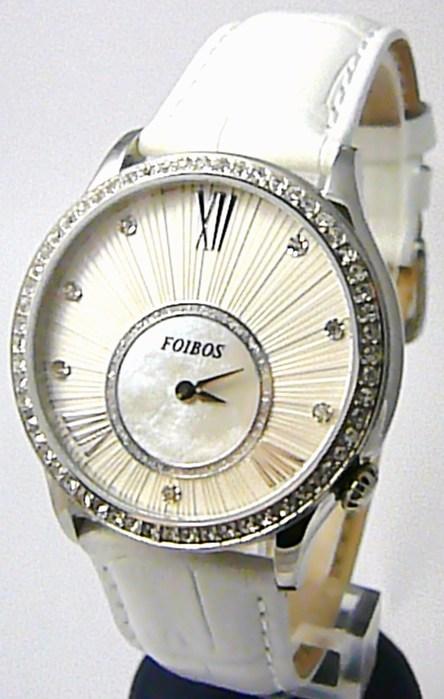 Dámské luxusní bílé hodinky Foibos 1x70 s římskými číslicemi POŠTOVNÉ ZDARMA!