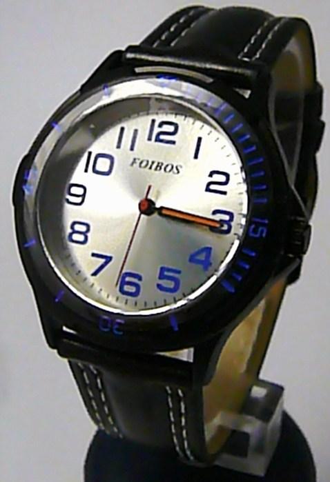Chlapecké sportovní černé dětské hodinky Foibos 2067.4 s modrými prvky