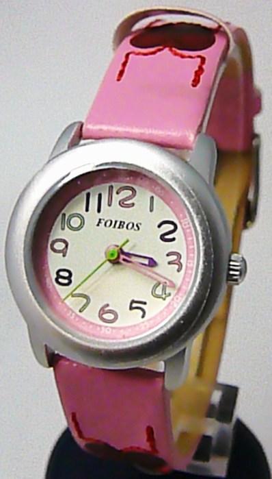 Srdíčkové dívčí dětské růžové hodinky Foibos 1619.5  d053ea3750a