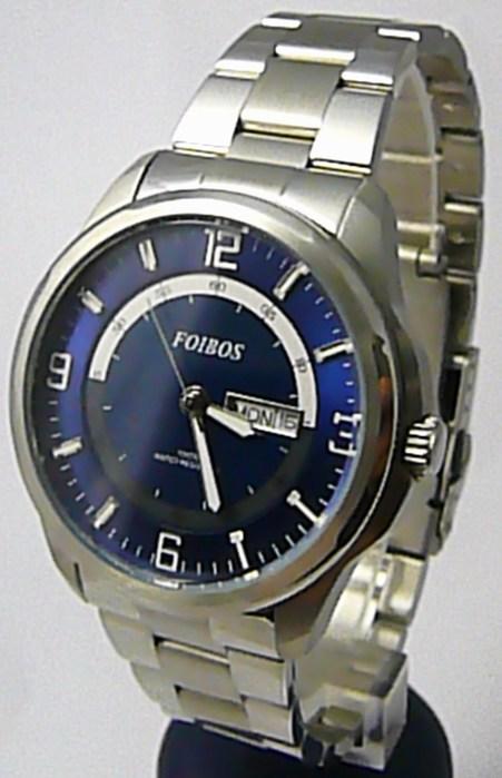 Pánské vodotěsné ocelové kovové hodinky Foibos 6733.2 - 10ATM