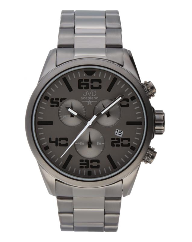 Pánské vodotěsné ocelové chronografy hodinky JVD seaplane JC647.2 POŠTOVNÉ ZDARMA!