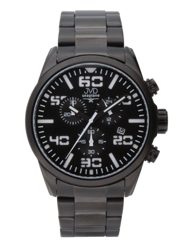 Pánské vodotěsné ocelové chronografy hodinky JVD seaplane JC647.3 POŠTOVNÉ ZDARMA!