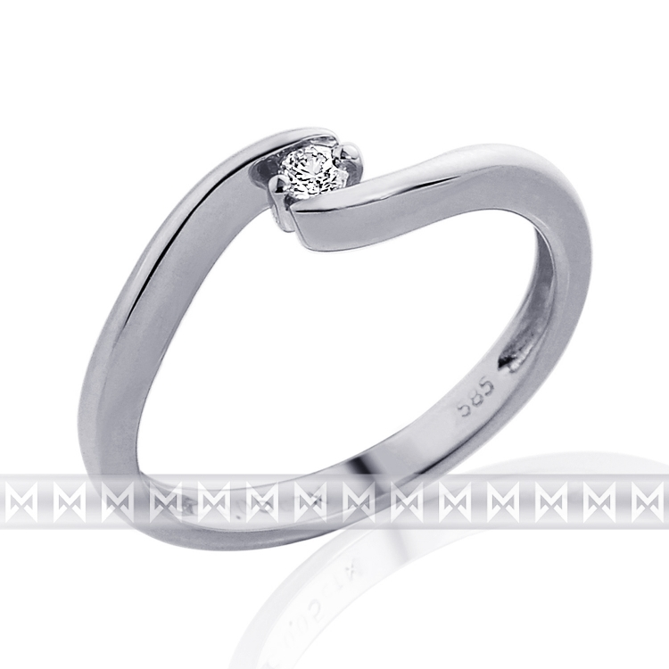 Zásnubní diamantový prsten s diamantem 1ks 0,05ct vel. libovolná 3860019