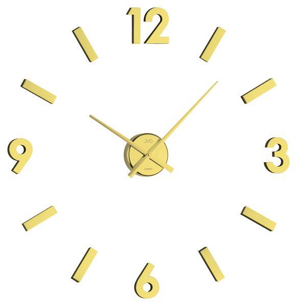 Exkluzivní zlaté nalepovací hodiny JVD HB11.1 opět skladem na zeď
