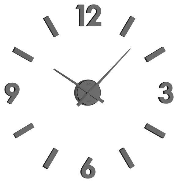 Exkluzivní černé nalepovací hodiny JVD HB11.2