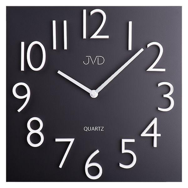 Kovové nástěnné hodiny JVD HB16 s magenickými čísly (libovolně lze rozmístit)