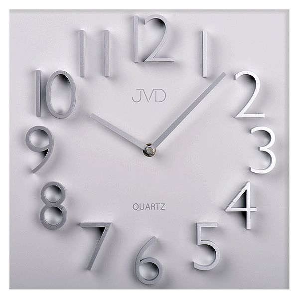 Kovové hodiny JVD HB19 s vystouplými 3D číslicemi