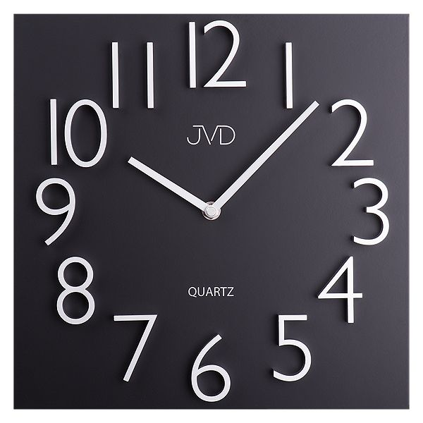 Kovové hodiny JVD HB20 s vystouplými 3D číslicemi