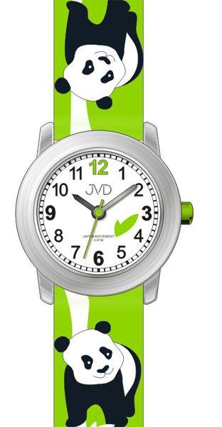 Dětské barevné hodinky JVD J7160.2 s motivem PANDY pro kluky a holky