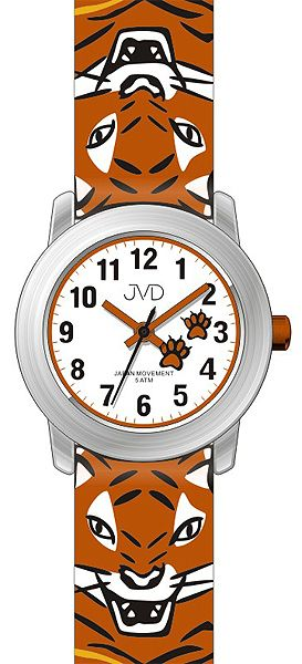 Dětské hodinky JVD J7157.1 s krásným tygříkem pro kluky a holky