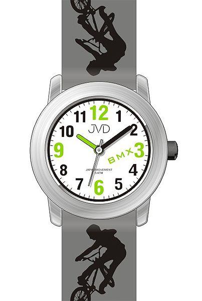 accadf7f185 Dětské chlapecké hodinky JVD J7158.2 s BMX kolem pro malé závodníky 5ATM
