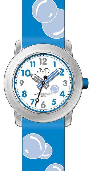 Dětské modré čitelné hodinky JVD J7164.1 s bublinami