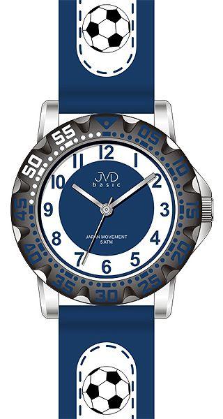 Fotbalové chlapecké sportovní hodinky JVD J7078.1 pro fotbalisty - 5ATM