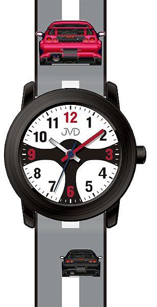 Chlapecké čitelné dětské hodinky JVD J7156.1 se závodním volatem pro závodníky