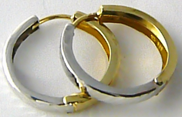 Dámské oboustranné zlaté kruhy s gravírováním 20mm 585/1,72gr H510