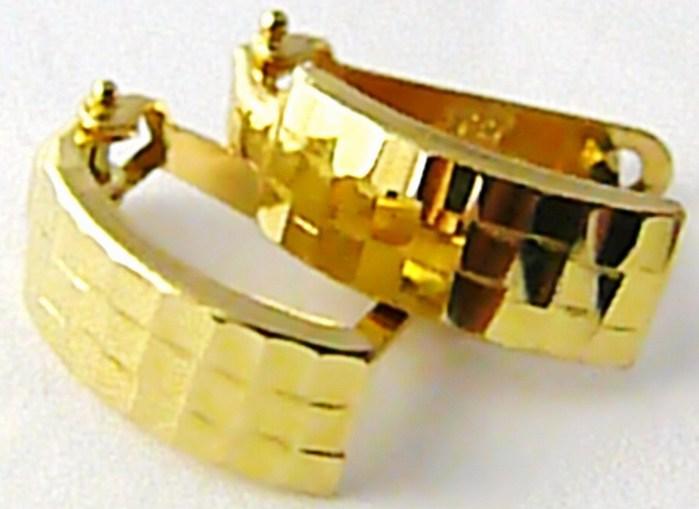 Dámské zlaté čtvrtkroužky s gravírováním 585/1,35gr H517