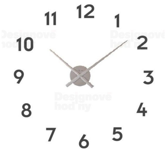 Nalepovací hodiny designové hodiny 3074zi Nextime Small hands 48cm