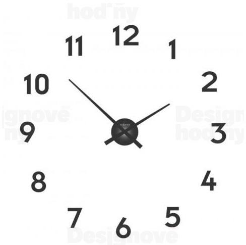 Nalepovací hodiny designové hodiny 3074zw Nextime Small hands 48cm