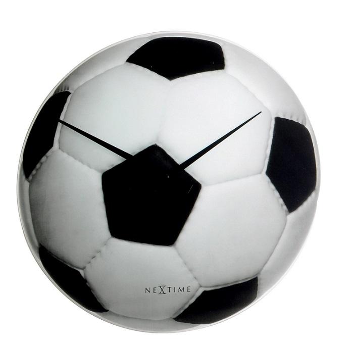 Designové fotbalové hodiny 8804 Nextime Johan 30cm pro fotbalové nadšence