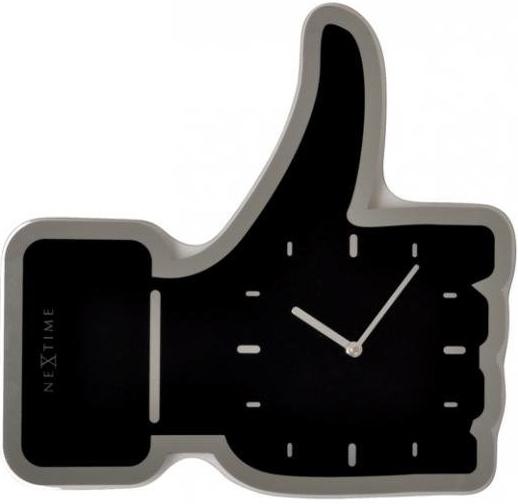 Designové facebookové hodiny 3072zw Nextime Facebook Like 42cm