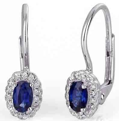 Diamantové náušnice s pravými diamanty a přírodními modrými safíry 3880447 POŠTOVNÉ ZDARMA! (3880447-0-0-92)