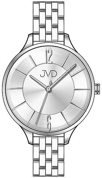 Voděodolné dámské ocelové hodinky JVD W77.1 s velkým číselníkem POŠTOVNÉ ZDARMA!