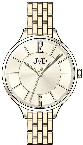 Voděodolné dámské ocelové hodinky JVD W77.2 s velkým číselníkem POŠTOVNÉ ZDARMA!